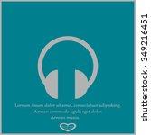 headphones icon | Shutterstock .eps vector #349216451
