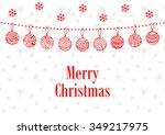 merry christmas ball background ... | Shutterstock .eps vector #349217975