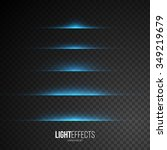 set of abstract lens flares  ... | Shutterstock .eps vector #349219679