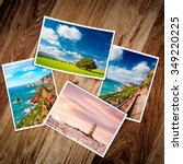 composite of printed photos... | Shutterstock . vector #349220225