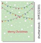 minimalistic merry christmas... | Shutterstock .eps vector #349222301
