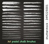 a set of vector brush strokes... | Shutterstock .eps vector #349225001
