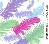 seamless pattern with bird... | Shutterstock .eps vector #349225631