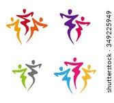 dancers illustration. dancing... | Shutterstock .eps vector #349225949