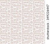 sun flowers leaves cards  ... | Shutterstock .eps vector #349226447