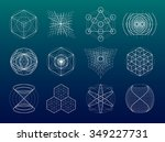 sacred geometry symbols and... | Shutterstock .eps vector #349227731