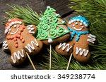christmas gingerbread | Shutterstock . vector #349238774