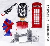 london symbols phone booth ... | Shutterstock .eps vector #349242521