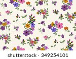 trendy seamless floral ditsy... | Shutterstock .eps vector #349254101