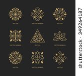 vector set of logo design... | Shutterstock .eps vector #349264187