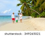 young family with two kids... | Shutterstock . vector #349265021