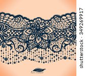 abstract lace ribbon seamless... | Shutterstock .eps vector #349269917