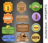 eclair multiple styles badges... | Shutterstock .eps vector #349269971