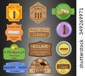 eclair multiple styles badges...   Shutterstock .eps vector #349269971