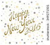 2016 happy new year greeting... | Shutterstock .eps vector #349271501