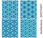 vector set of four monochrome... | Shutterstock .eps vector #349274357
