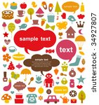 vector cute elements collection | Shutterstock .eps vector #34927807