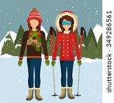 winter fashion wear and... | Shutterstock .eps vector #349286561
