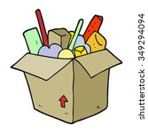 freehand drawn cartoon box of... | Shutterstock .eps vector #349294094
