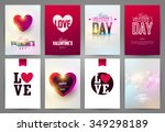 valentine s day backgrounds set.... | Shutterstock .eps vector #349298189