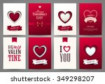 valentine s day backgrounds set.... | Shutterstock .eps vector #349298207