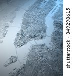 new york city  satellite map... | Shutterstock . vector #349298615