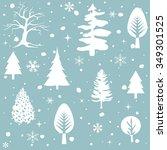 winter seamless pattern | Shutterstock .eps vector #349301525