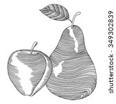 Pear And Apple Label