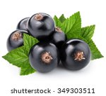Black Currant On The White...