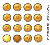 set of red  buttons  vector... | Shutterstock .eps vector #349306937