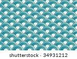blue waves   Shutterstock .eps vector #34931212