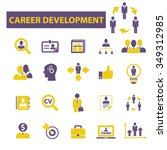 career development  icons ... | Shutterstock .eps vector #349312985
