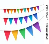 vector set of multicolored... | Shutterstock .eps vector #349314365