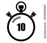 stopwatch vector icon  10... | Shutterstock .eps vector #349330487