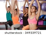 group of women working out in...   Shutterstock . vector #349339721