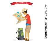 tourist travel. concept of the... | Shutterstock .eps vector #349343279