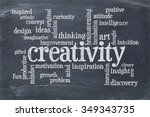 creativity concept   a word... | Shutterstock . vector #349343735