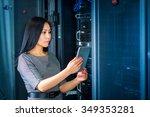 young engineer businesswoman... | Shutterstock . vector #349353281