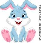 Stock vector cute rabbit cartoon 349353461