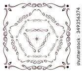 elegant calligraphy frames set... | Shutterstock .eps vector #349356374