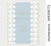 elegant invitation. decorative... | Shutterstock .eps vector #349358771