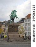 Small photo of COPENHAGEN, DENMARK - NOVEMBER 03, 2014: The statue of Bishop Absalon, founder of Copenhagen