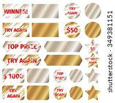 scratch card elements. win game ... | Shutterstock .eps vector #349381151