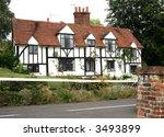 timber framed english cottage...   Shutterstock . vector #3493899