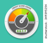 credit score gauge good and bad ... | Shutterstock .eps vector #349395254