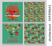 set of cards and patterns for... | Shutterstock .eps vector #349398641