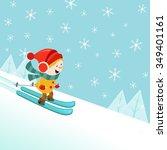 skiing kid | Shutterstock .eps vector #349401161