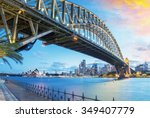 Stock photo sydney australia amazing skyline at dusk 349407779