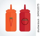 icon bottle of chili sauce with ... | Shutterstock .eps vector #349410575