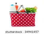 shopping bag with daily... | Shutterstock . vector #34941457